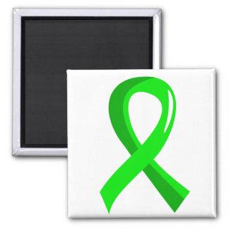 Lyme Disease Lime Green Ribbon 3 Refrigerator Magnets