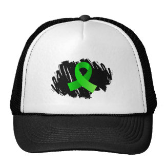 Lyme Disease Lime Green Ribbon With Scribble Cap