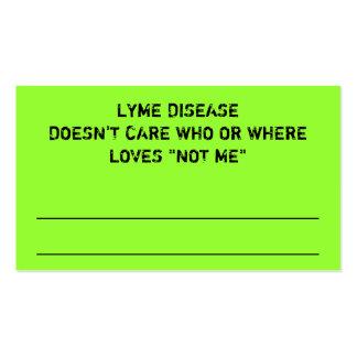 LYME DISEASE RANDOM ACT OF AWARENESS BUSINESS CARD TEMPLATES