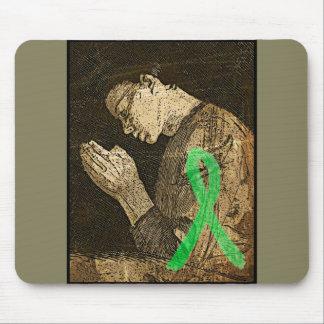 Lyme Disease Ribbon Praying Mouse Pad