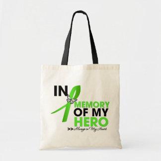 Lyme Disease Tribute In Memory of My Hero Budget Tote Bag