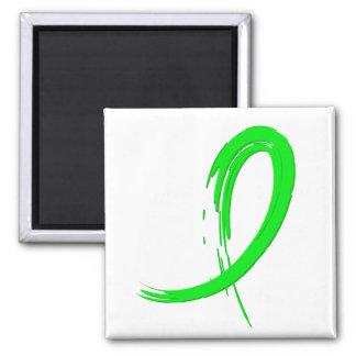 Lyme Disease's Lime Green Ribbon A4 Fridge Magnet