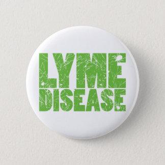 "Lyme Green ""Lyme Disease"" design with ticks 6 Cm Round Badge"