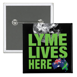 Lyme Lives Here Australian Flag Pin