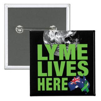 Lyme Lives Here Australian Flag Pin