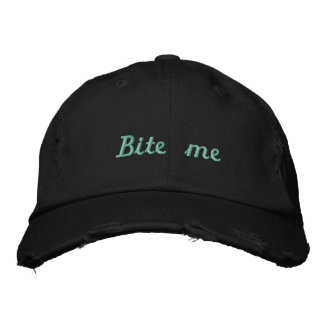 Lyme_Ticked Black Teal Bite Me Hat - Kendelle