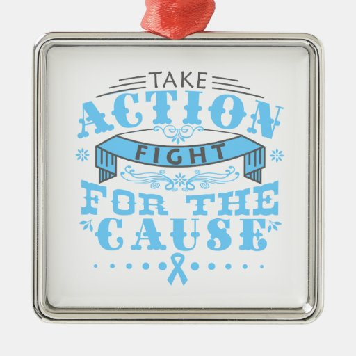 Lymphedema Take Action Fight For The Cause Christmas Ornament