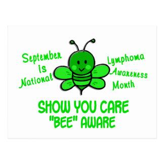 Lymphoma Awareness Month Bee 1.1 Postcard