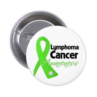 Lymphoma Cancer Awareness Ribbon Buttons
