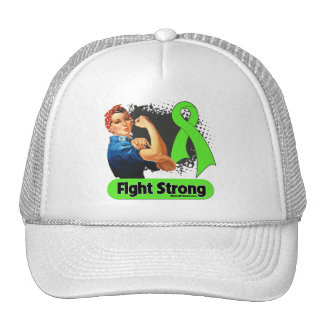 Lymphoma Cancer Fight Strong Rosie Riveter Cap