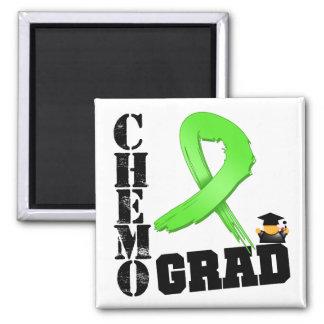 Lymphoma Chemo Grad Square Magnet