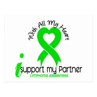 LYMPHOMA I Support My Partner Postcard