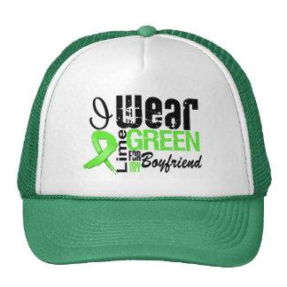 Lymphoma I Wear Lime Green Ribbon BOYFRIEND Cap