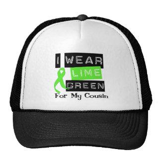 Lymphoma Lime Green Ribbon Cousin Mesh Hats