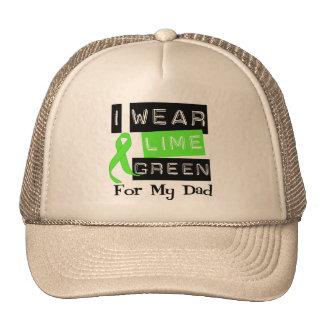 Lymphoma Lime Green Ribbon Dad Hat