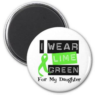 Lymphoma Lime Green Ribbon Daughter Fridge Magnet