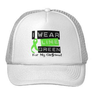 Lymphoma Lime Green Ribbon Girlfriend Mesh Hats