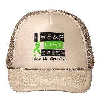 Lymphoma Lime Green Ribbon Grandma Trucker Hats