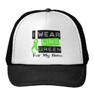 Lymphoma Lime Green Ribbon Hero Hat