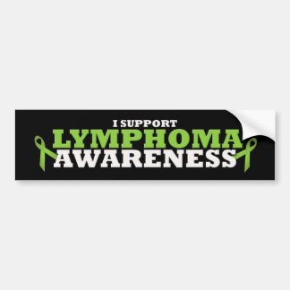 Lymphoma Lime Green Support Ribbon Bumper Sticker