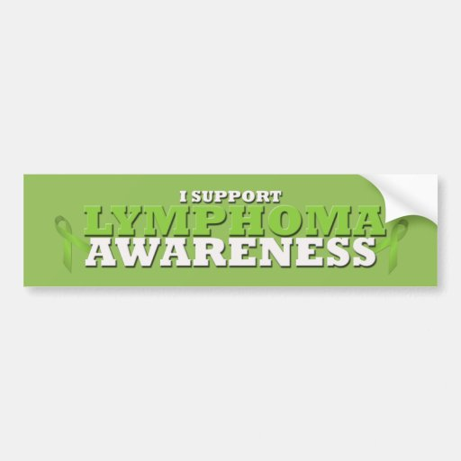 Lymphoma Lime Green Support Ribbon Bumper Stickers