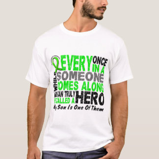 Lymphoma Non-Hodgkins HERO COMES ALONG 1 Son T-Shirt
