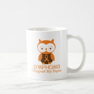Lymphoma Orange Ribbon Awareness Papou Basic White Mug