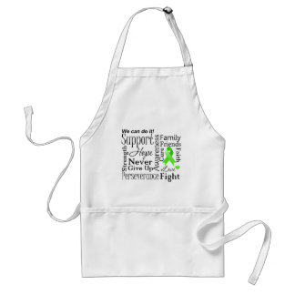 Lymphoma Supportive Words Aprons