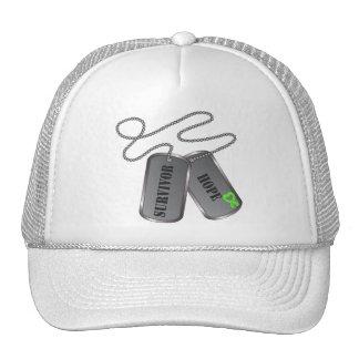 Lymphoma Survivor Dog Tags Mesh Hats