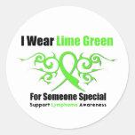 Lymphoma Tribal Ribbon Someone Special Sticker