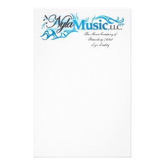 Lyn Liechty Nyla Music Paper Stationery Design