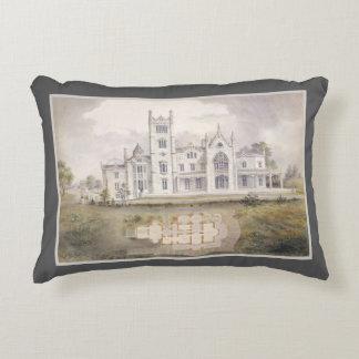 Lyndhurst Mansion Watercolor Elegant Architecture Decorative Cushion