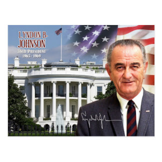 Lyndon B. Johnson -  36th President of the U.S. Postcard