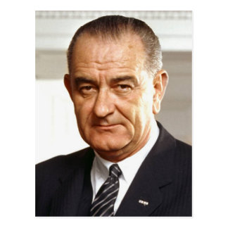 Lyndon B. Johnson 36th President Postcard