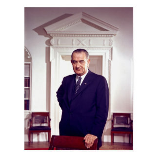 Lyndon B Johnson Postcard