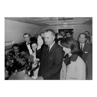 Lyndon B. Johnson taking the Oath of Office Poster