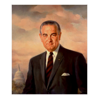 LYNDON BAINES JOHNSON by Elizabeth Shoumatoff Poster
