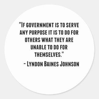 Lyndon Baines Johnson Quote Classic Round Sticker