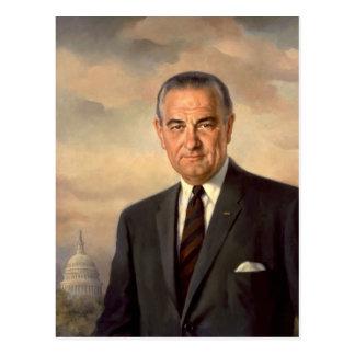 Lyndon Johnson Official Portrait Postcard