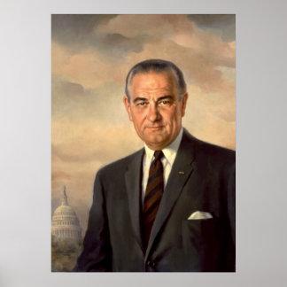 Lyndon Johnson Official Portrait Poster
