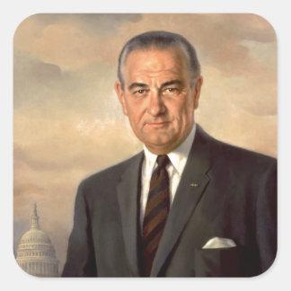 Lyndon Johnson Official Portrait Square Sticker
