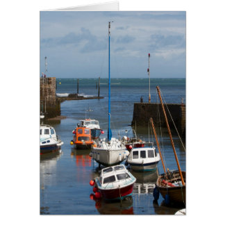 Lynmouth Harbour boats card