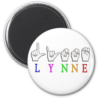 LYNNE FINGERSPELLED ASL NAME SIGN DEAF MAGNET