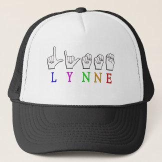 LYNNE FINGERSPELLED ASL NAME SIGN DEAF TRUCKER HAT