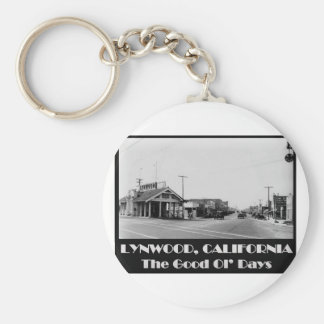 Lynwood California Back When Basic Round Button Key Ring