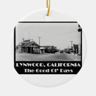 Lynwood California Back When Ceramic Ornament