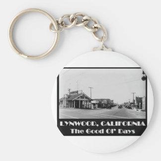 Lynwood California Back When Key Ring