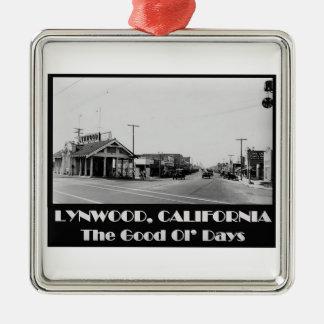 Lynwood California Back When Metal Ornament