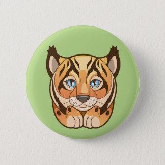 lynx 6 cm round badge