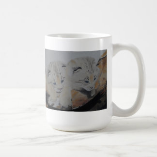 Lynx Cubs Pastel Painting Artwork Mug